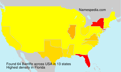 Surname Barriffe in USA