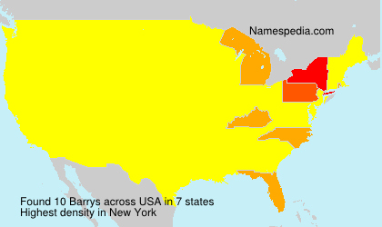 Surname Barrys in USA