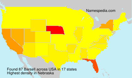 Surname Barsell in USA