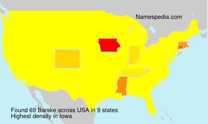 Surname Barske in USA