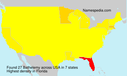Surname Bathelemy in USA