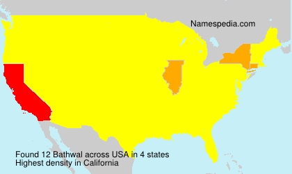 Surname Bathwal in USA