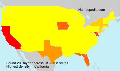 Surname Bayder in USA