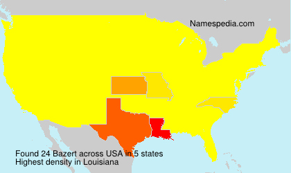 Surname Bazert in USA