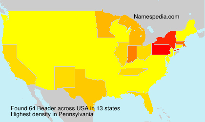 Surname Beader in USA