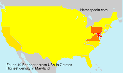 Surname Beander in USA