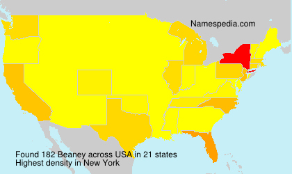 Surname Beaney in USA