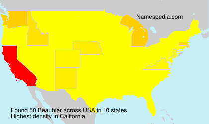 Surname Beaubier in USA