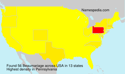 Surname Beaumariage in USA