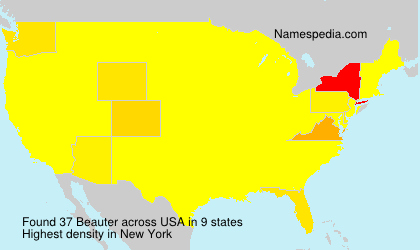 Surname Beauter in USA