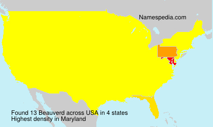 Surname Beauverd in USA