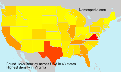 Surname Beazley in USA