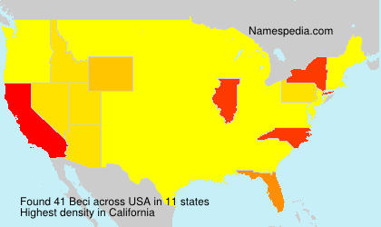 Surname Beci in USA
