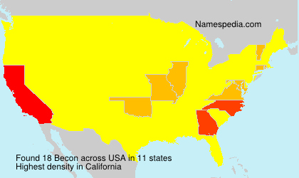 Surname Becon in USA
