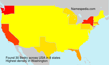 Surname Bedry in USA