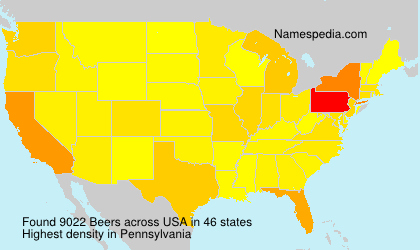 Surname Beers in USA