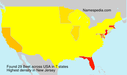 Surname Beet in USA