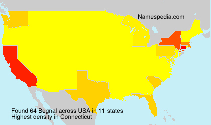 Surname Begnal in USA