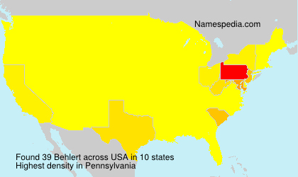 Surname Behlert in USA