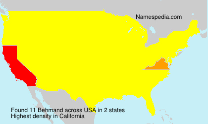 Surname Behmand in USA