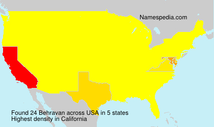 Surname Behravan in USA