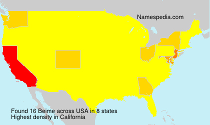Surname Beime in USA