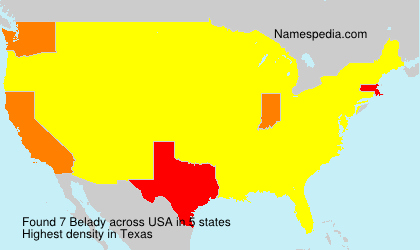 Surname Belady in USA