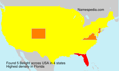 Surname Belight in USA