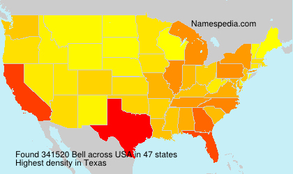Surname Bell in USA