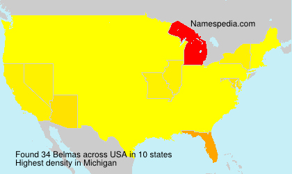 Surname Belmas in USA