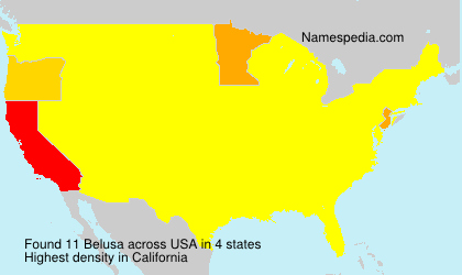 Surname Belusa in USA