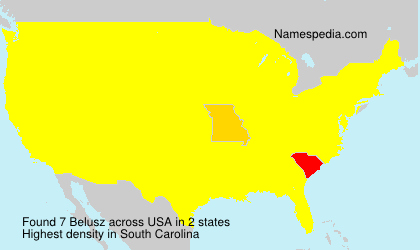 Surname Belusz in USA