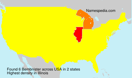 Surname Bembnister in USA