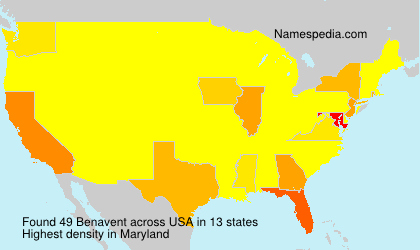 Surname Benavent in USA