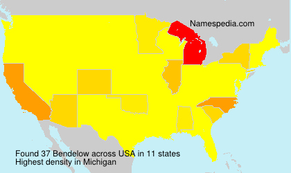 Surname Bendelow in USA