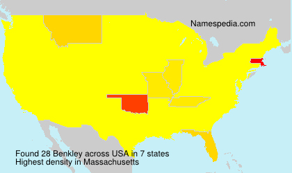 Surname Benkley in USA