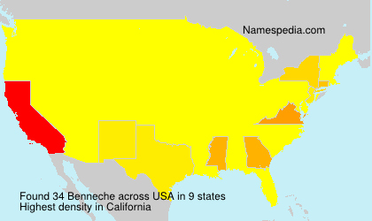 Surname Benneche in USA