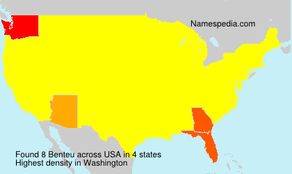 Surname Benteu in USA