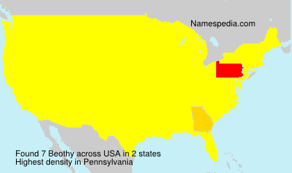 Surname Beothy in USA