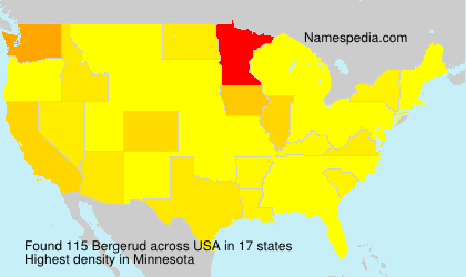 Surname Bergerud in USA