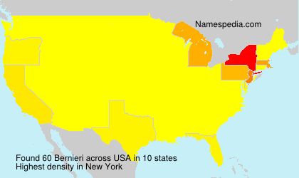 Surname Bernieri in USA