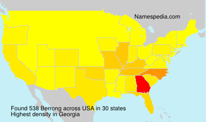 Surname Berrong in USA