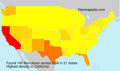 Surname Berroteran in USA