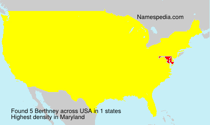 Surname Berthney in USA