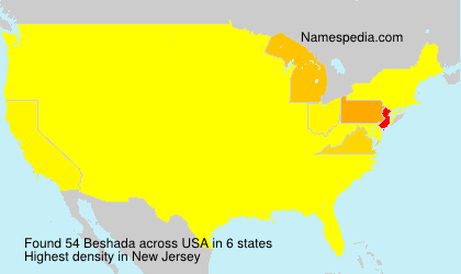 Surname Beshada in USA