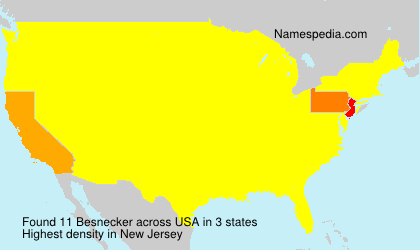Surname Besnecker in USA