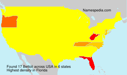 Surname Bettoli in USA