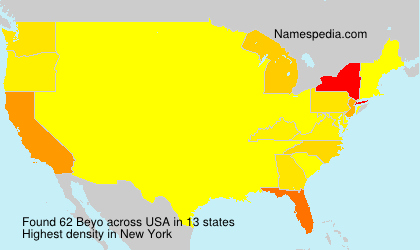 Surname Beyo in USA