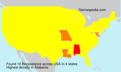 Surname Beysselance in USA