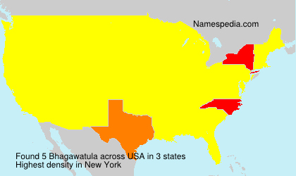 Surname Bhagawatula in USA